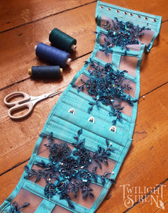 "26"" WAIST TEAL UNDERBUST CORSET WASPIE (READY TO SHIP)"