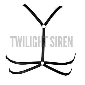 KAMARA luxury elastic strap harness bra lingerie by Twilight Siren