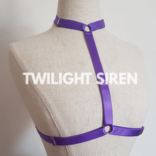 SARAH choker body harness bralet PURPLE TWILIGHT SIREN