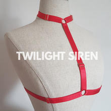 SARAH choker body harness bralet RED TWILIGHT SIREN