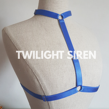 SARAH choker body harness bralet BLUE  TWILIGHT SIREN