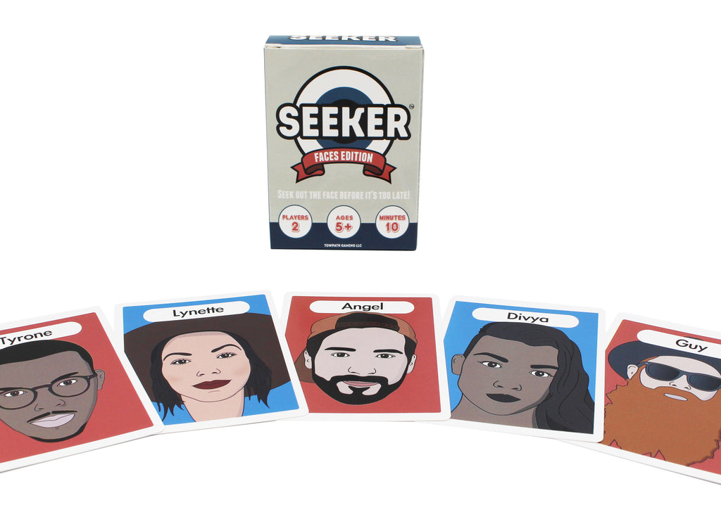 Seeker: Portable Face Guessing Game: Fun Card Game Expandable to 10+ Players