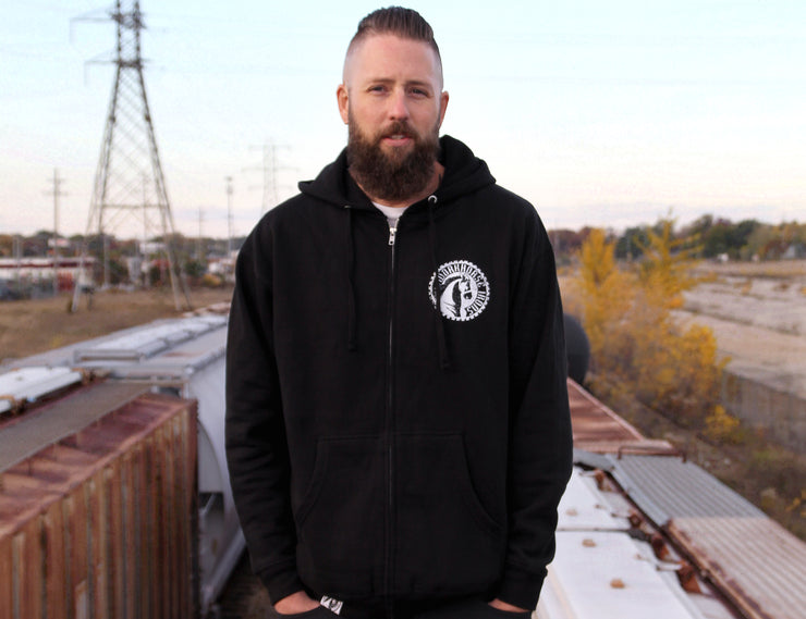 Workhorse Irons Black Zip Hoody