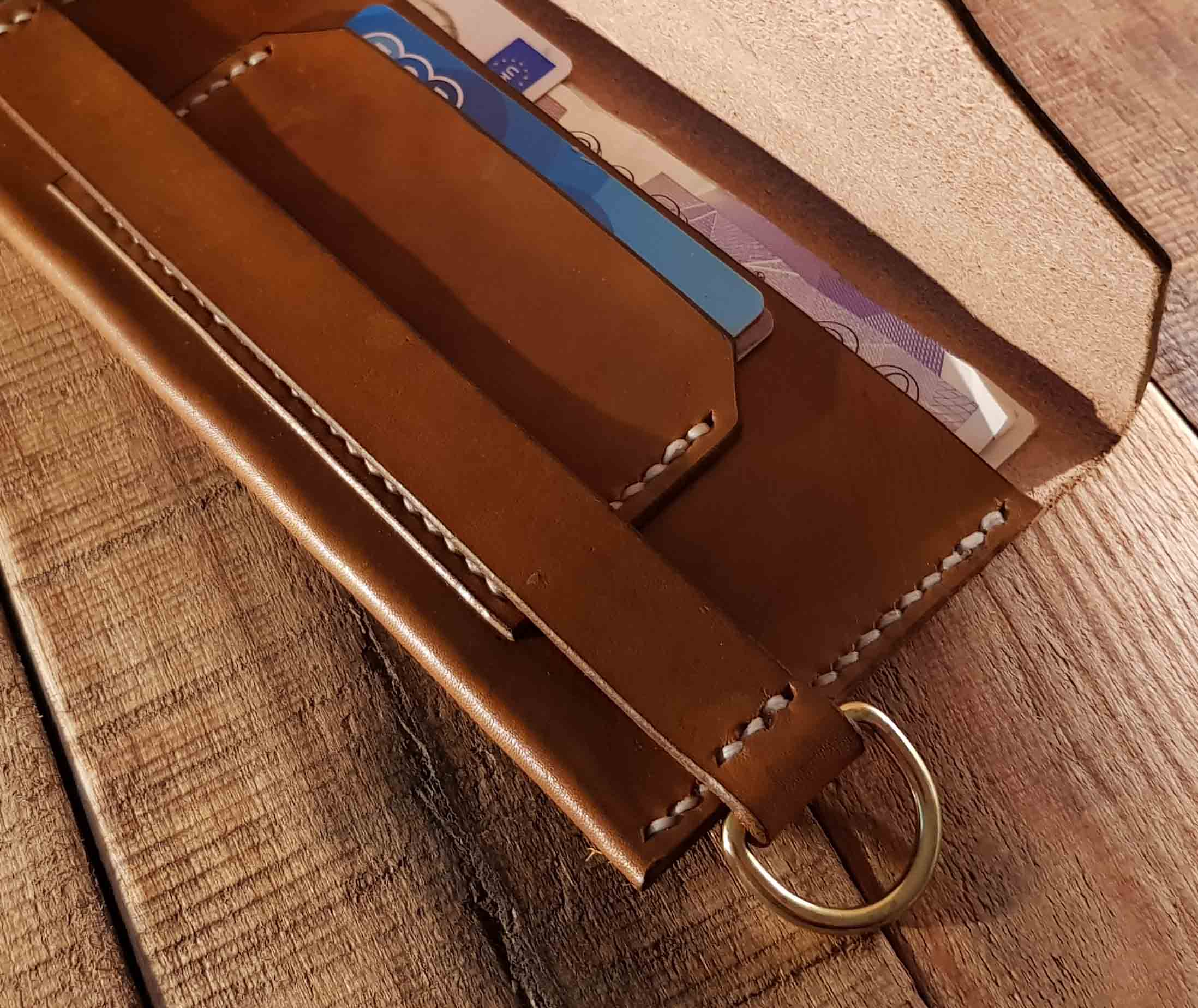 Slim Jim Biker Long Wallet - Walnut