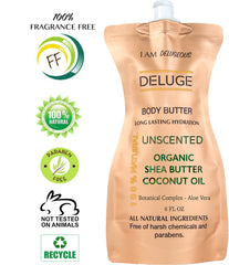 fragrance free body butter - deluge