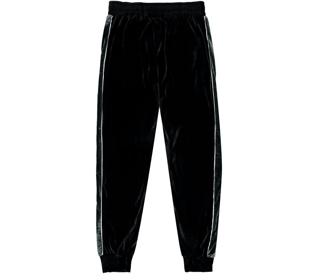 Black Velour Trackies