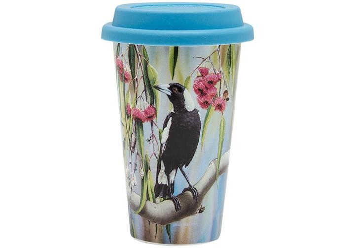 Ashdene Travel Mug Magpie & Flowering Red Gum