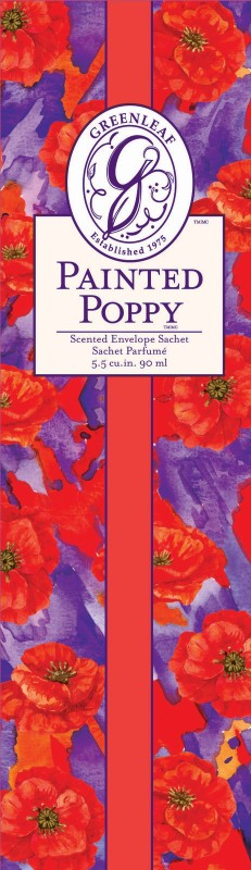 Greenleaf Scented Sachet Painted Poppy
