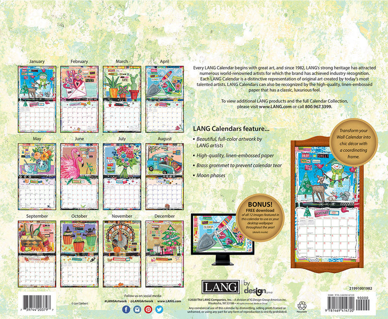 Lang 2021 Wall Calendar Happy Life
