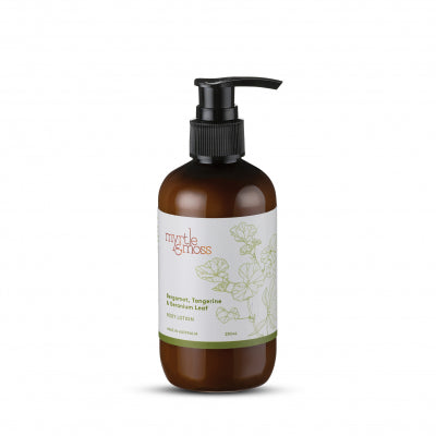 Myrtle and Moss Body Lotion Bergamot Asutralian Made