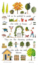 Red Tractor Designs Tea Towel A Day in the Garden
