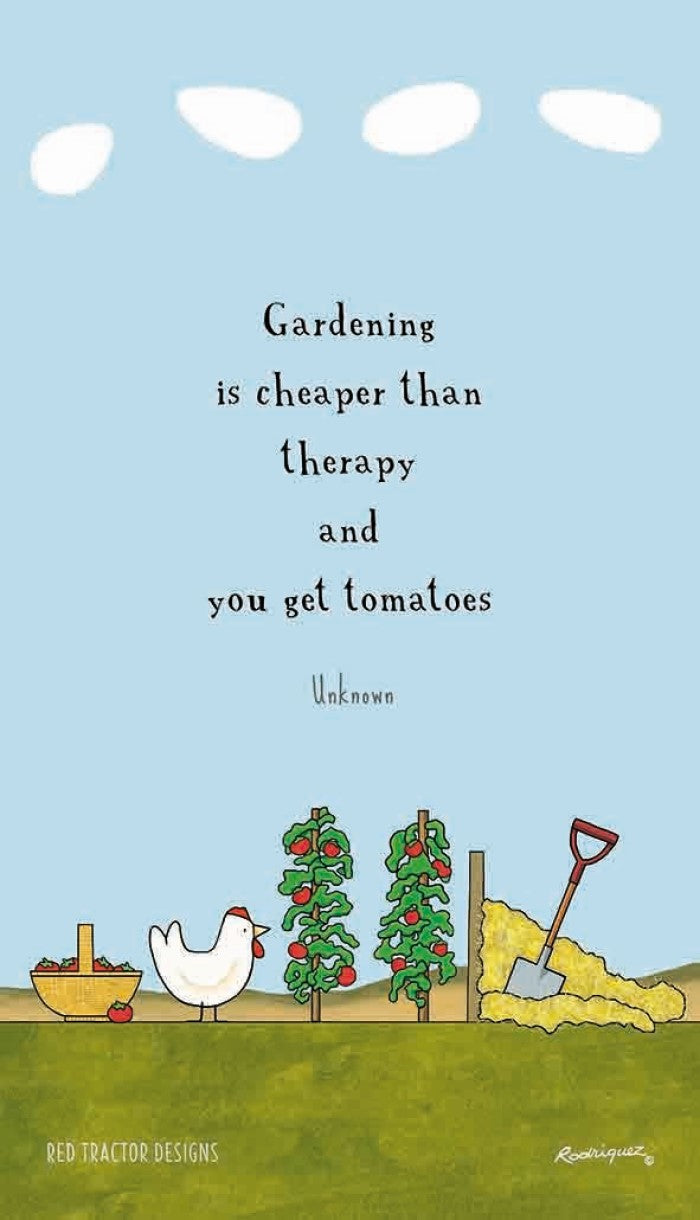 Red Tractor Designs Tea Towel Garden Therapy