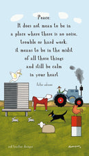 Red Tractor Designs Tea Towel Keeping Calm