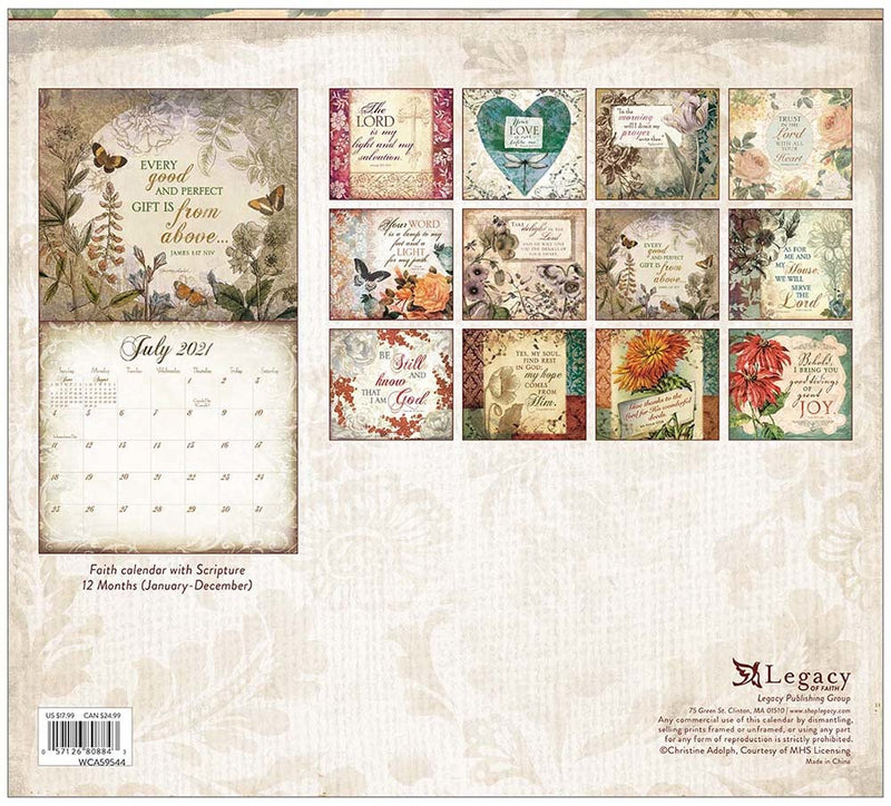 Legacy 2021 Wall Calendar Walk by Faith