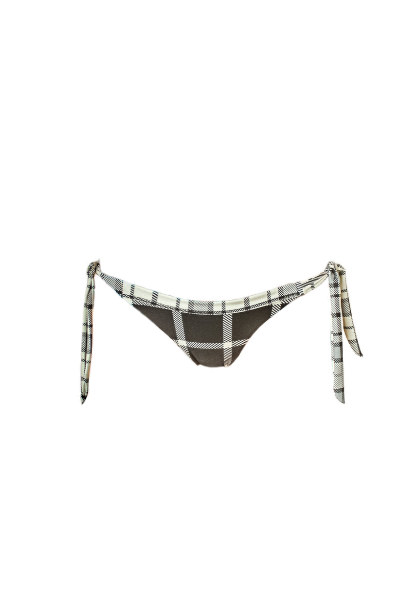 JUNE Plaid TIE UP bottom