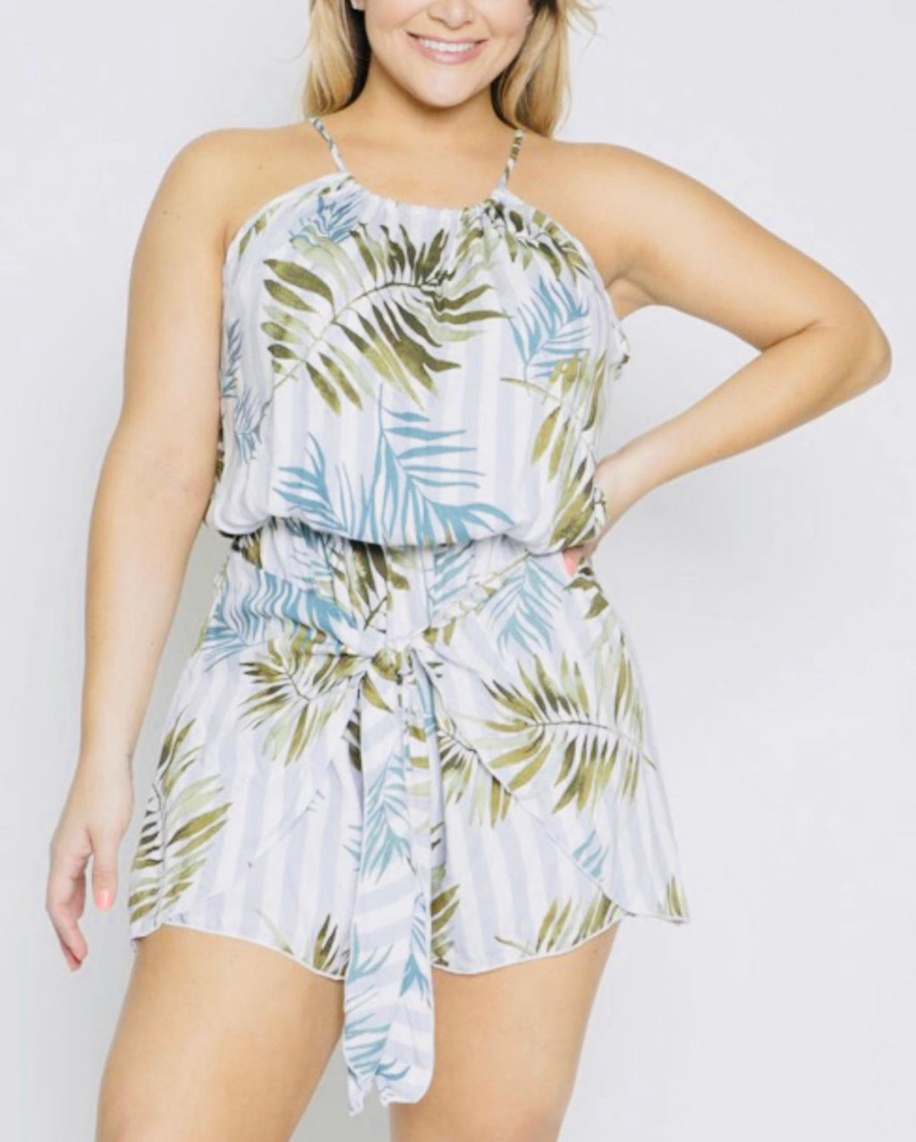 PLUS PALM ROMPER