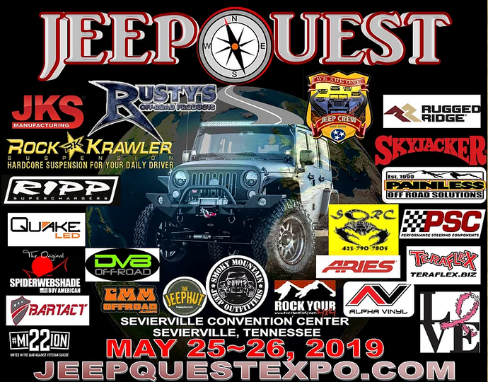 COME SEE US AT JEEP QUEST, ALL JEEP EXPO