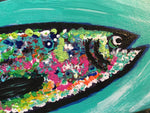 Rainbow Trout #5, acrylic painting, size: 4x12