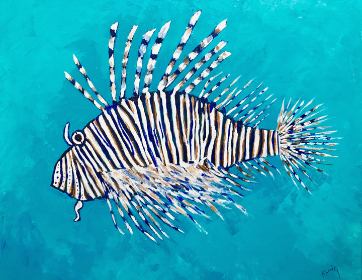 Lion fish in blue waters