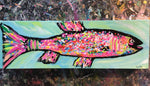 Rainbow Trout #4, acrylic painting, size: 4x12