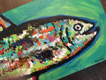 Rainbow Trout #7, acrylic painting, size: 4x12