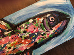 Rainbow Trout #3, acrylic painting, size: 4x12