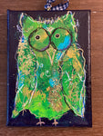 Meet Frank, Twinkle Owl, 5x7, Mixed Media on Canvas