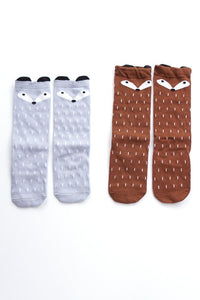 Fox Socks ( Gray & Brown)