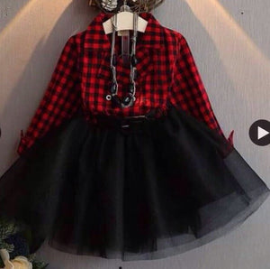 Tutu Plaid Dress