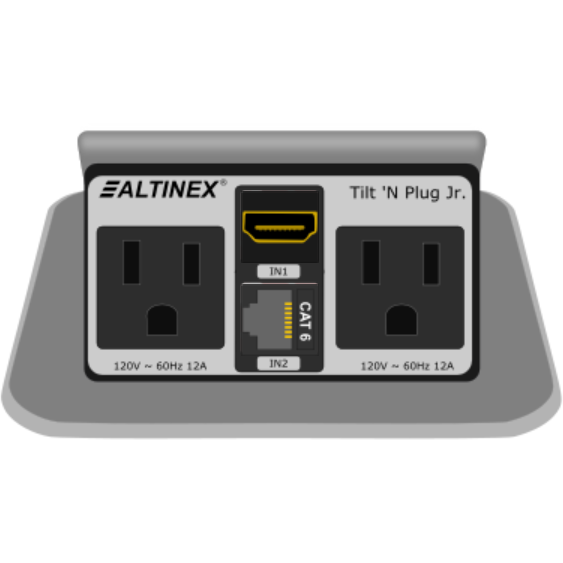 Altinex TNPS Pop Up Table Box Power Data HDMI Silver - Conference table power box