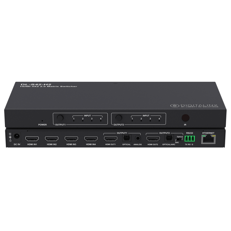 Liberty DL-S42-H2 HDMI Auto Switcher Front and Back View