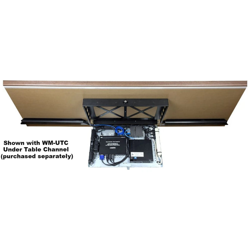 FSR WM-UTR1S Concertto Under Table Rack Shelf, shown open