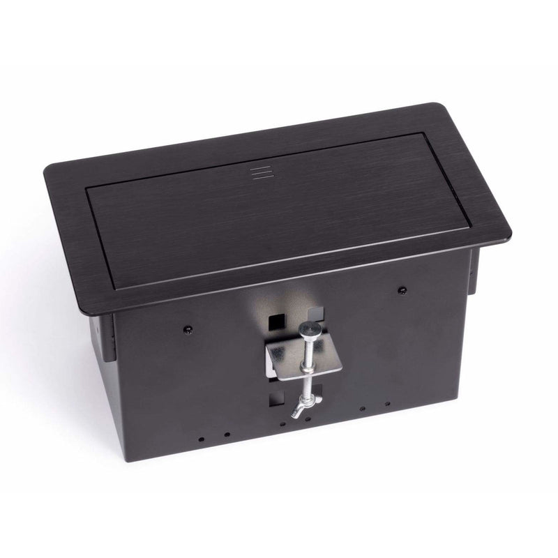 Lew Electric HCW-B Modular Conference Table Box - Black