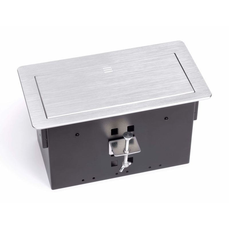 Lew Electric HCW-S Silver Top Table Box, showing side clamp