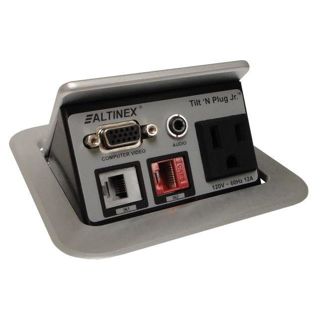 Altinex TNP121S Poped Up Conference Table Box, AC, Data, Phone, VGA Silver