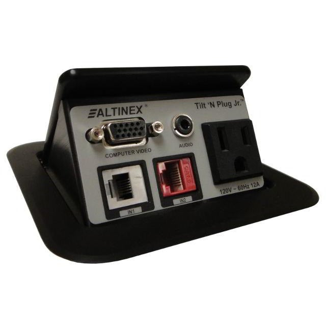 Altinex TNP121 Poped Up Conference Table Box, AC, Data, Phone, VGA Black