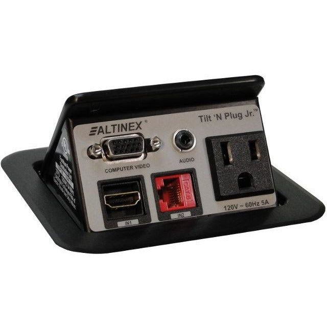 Altinex TNP128 Pop Up Cable Management Box, AC, Data, VGA, HDMI, Black