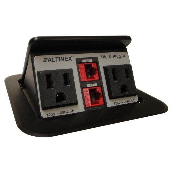 Altinex TNP151 Pop Up Conference Table Box, 2 Power, 2 Data, Black