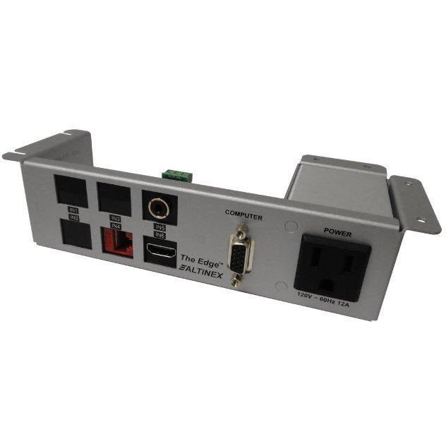 Under Table Edge AV Box, Power, Data, HDMI, Audio, VGA - Silver