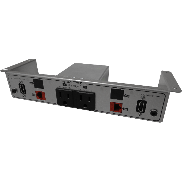 Altinex UT240-325S Under Table Box 2 Power, 2 Data, 2 HDMI, Silver