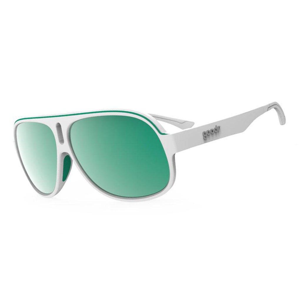 goodr sunglasses - coffeeshop seat sweats - superfly
