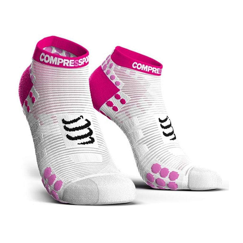 Compressport Pro Racing Sock V3 - Womens - White/Pink
