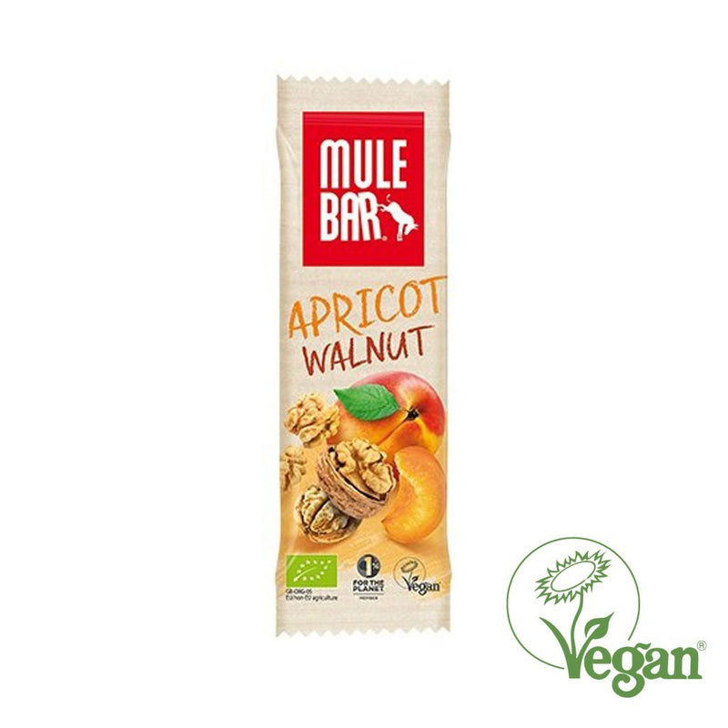 Mule Organic & Vegan energy bar – Organic Apricot & Walnut