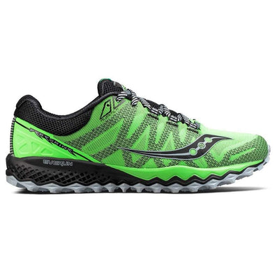 Saucony Peregrine 7 Trail Shoe - Slime/Black