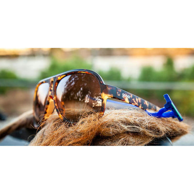 goodr sunglasses - shaves legs grows beard - superfly