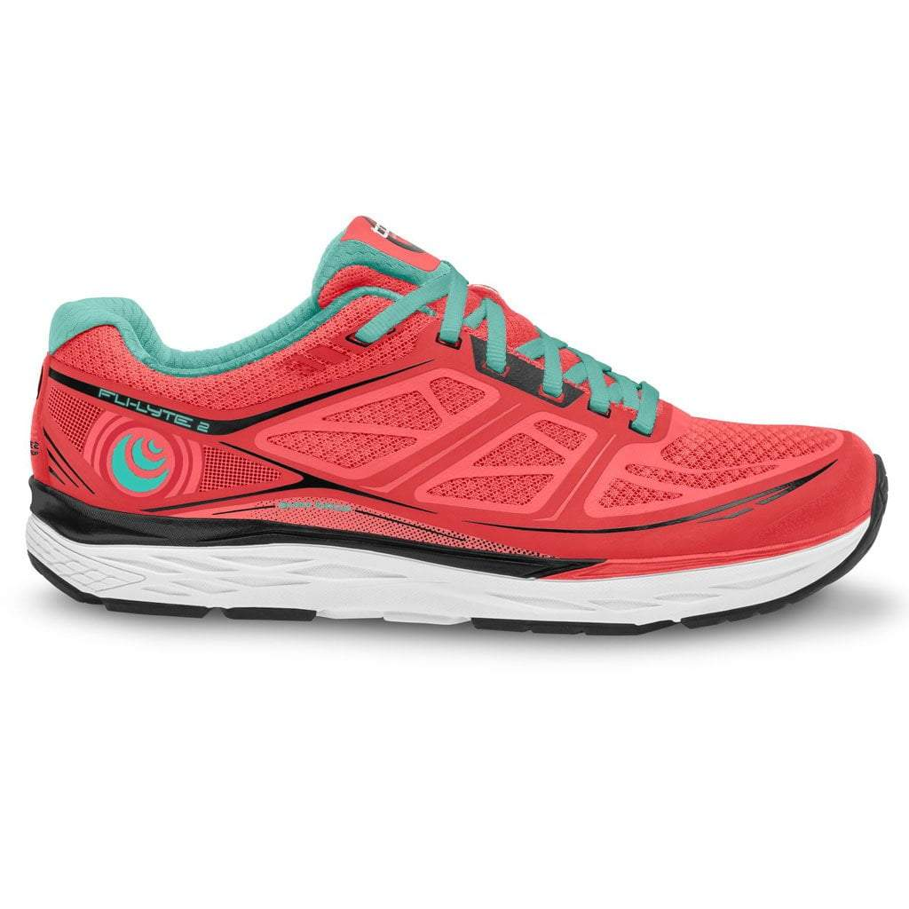 TOPO FLI-LYTE 2 - Womens - Coral/Aqua - Running Shoes