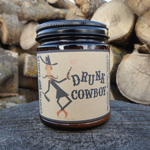 Drunk Cowboy - Soy Wax Candle - Wood Wick - Campfire Candles