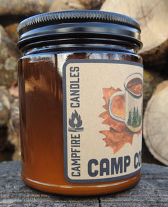 Camp Coffee - Soy Wax Candle - Wood Wick - Campfire Candles