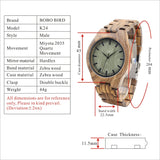 Luxury Watches Men Wooden Watch Quartz Wood Wrist Watches Best Gifts Items