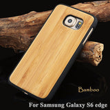 Wood Hard Protector Cover Samsung Galaxy S8 S6 edge Plus Real Rosewood Bamboo Cherry Wooden Phone Cases